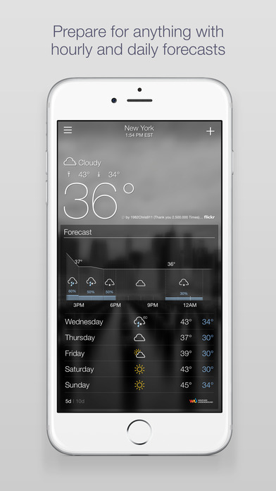 Screenshots of Yahoo Weather for iPhone