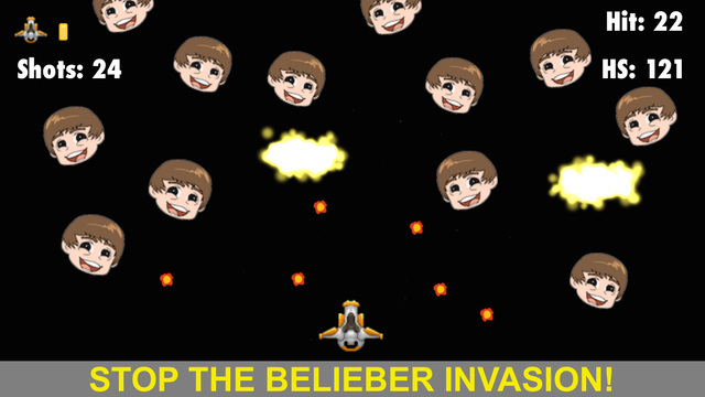 Bieb Blaster - Tiny Bieber Space Invasion