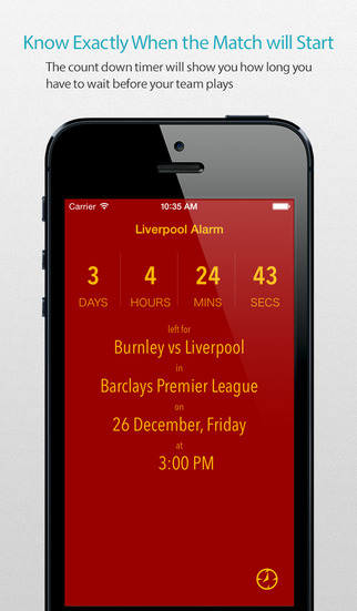 Liverpool Alarm Pro — News live commentary standings and more for your team