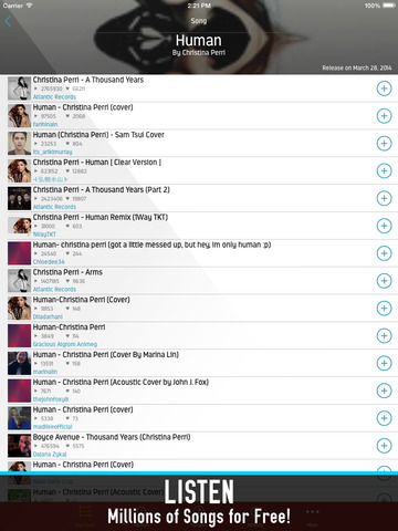 Screenshots of Music 360: free music player, listen by streaming for iPad