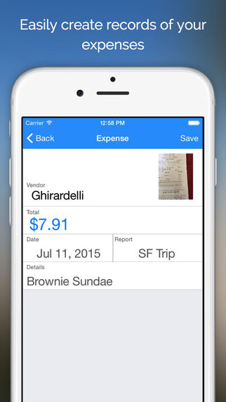 Send Money - Easy Expense Reports for Students