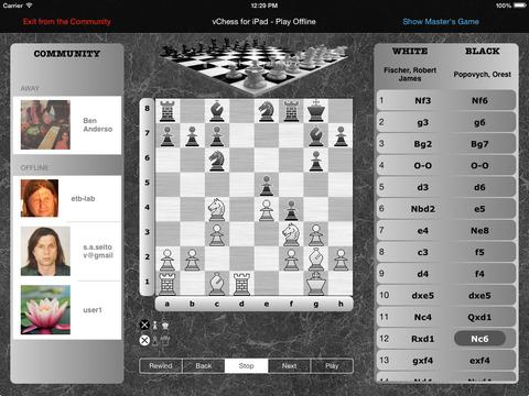 vChess for iPad iPad Screenshot 2
