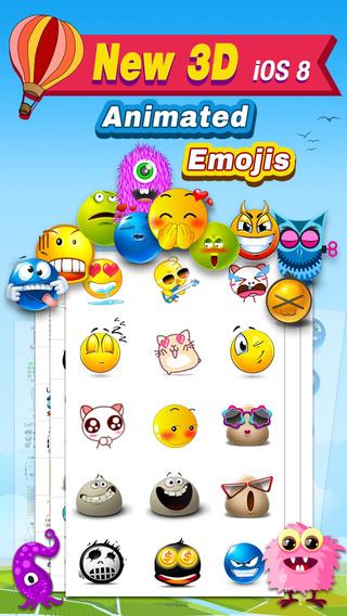 Animated 3D Emoji Free - New Animated Emojis Emoticons Art Keyboard