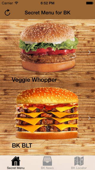 Secret Menu for Burger King