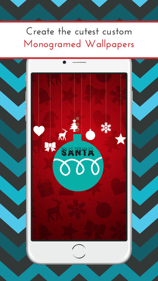 Christmas Monogram Pro - Custom Wallpapers and Backgrounds with HD Themes