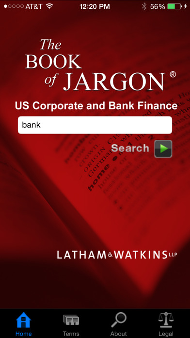The Book of Jargon™ - Corporate and Bank Finance iPhone Screenshot 1