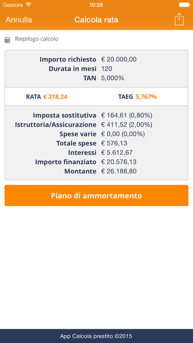 Calcola Prestito - I miei finanziamenti on the App Store