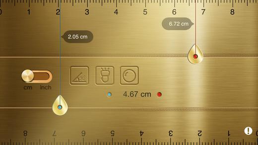 Golden ruler – Ruler Toolkit Mirror Flashlight