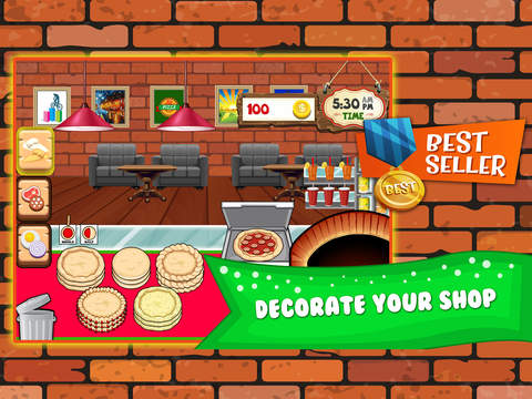 Screenshots of Pizza Cooking Dash Fever Maker - restaurant story shop & bakery diner town food games! for iPad