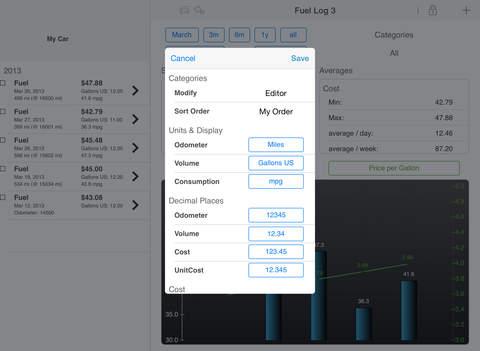 Fuel Log 3 iPad Screenshot 2