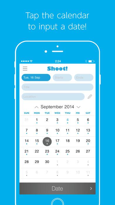 Shoot! - a speedy event inserter Screenshots