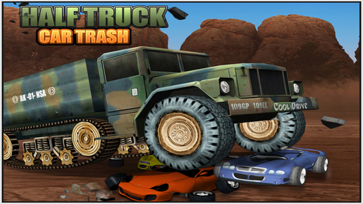 Half Truck Car Trash Car Crushing Simulation game