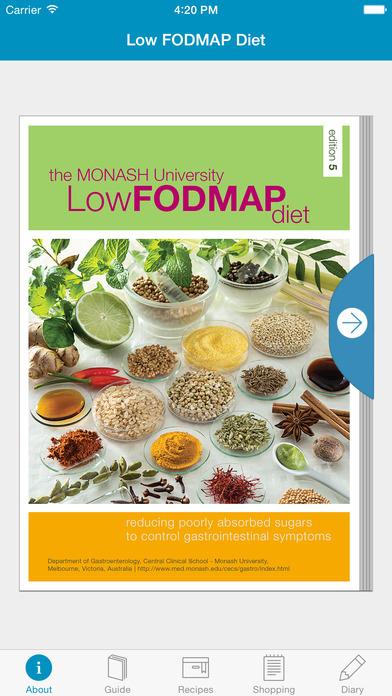 The Monash University Low FODMAP Diet Screenshot