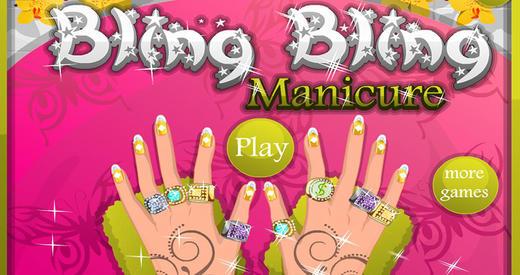 Diamond Nail Polish Manicure