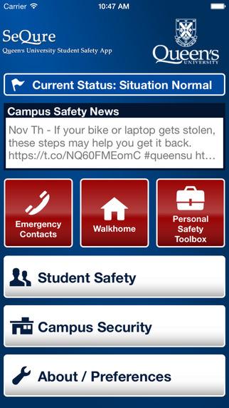 SeQure - Queen's University Student Safety App