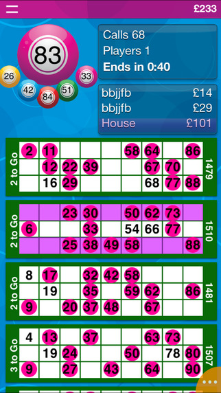 Live Bingo iPhone Screenshot 1