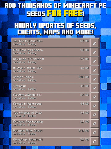 Seeds for Minecraft PE : Free Seeds Pocket Edition Screenshot 1