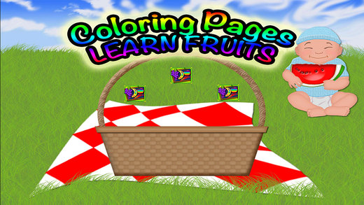 Fruits Coloring Pages Preschool Learning Experience Game