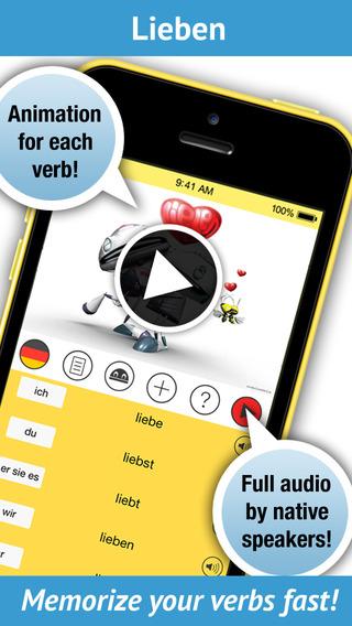 Learn German Verbs Pro - Pronunciation by a native speaker