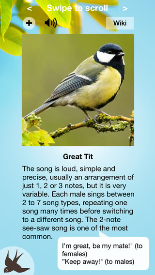 Chirp! Bird Songs Europe (original) iPhone Screenshot 1