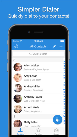 Simpler Dialer - Quickly call with T9 speed dial t