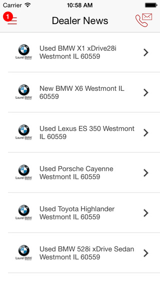 Laurel BMW DealerApp iPhone Screenshot 4