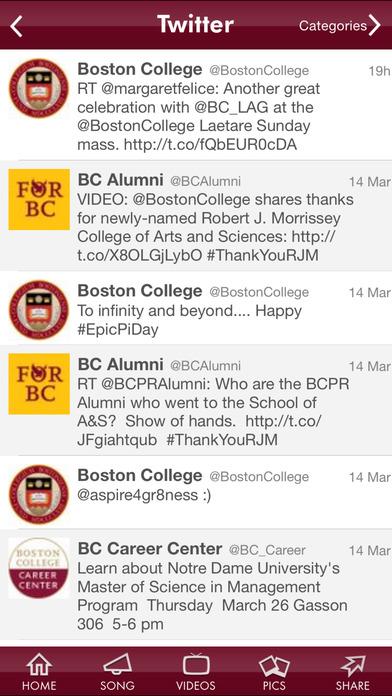 Boston College iPhone Screenshot 3