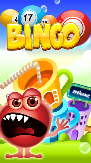 Monsters Face Halloween Bingo Fun Trick or Treat Bash Balls Edition Pro