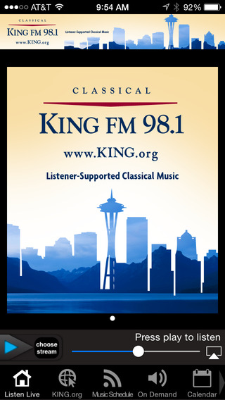 Classical KING FM – 4 channels of great music iPhone Screenshot 1