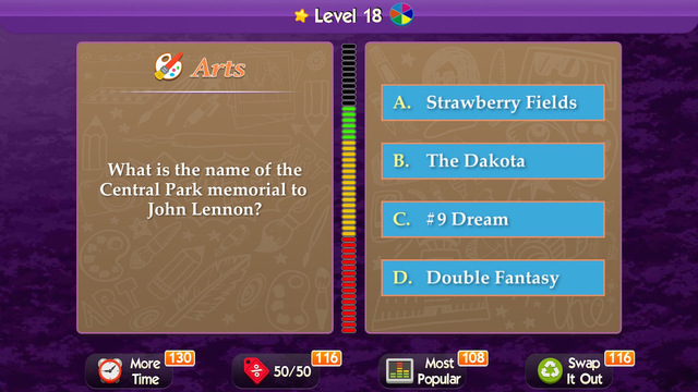 What's the Trivia ~ take a crack at becoming a trivial millionaire in this pursuit of puzzle bliss