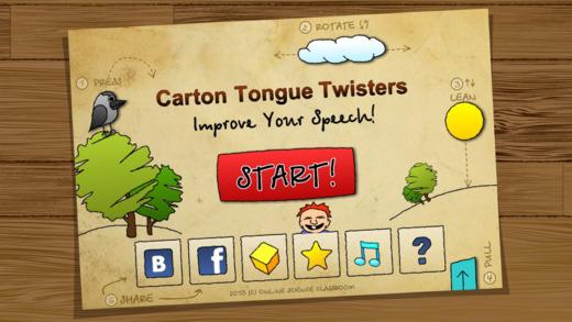Cartoon Tongue Twisters. English language. FREE
