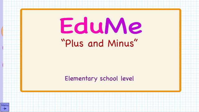 EduMe - Plus and Minus
