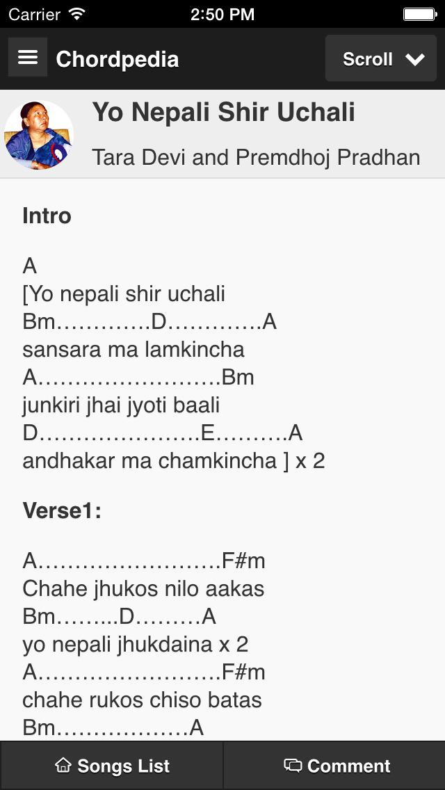 Nepali Songs Chords Chordpedia Apprecs