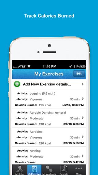 iExercise Journal iPhone Screenshot 1