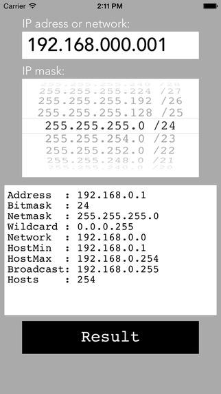 IPMask - network address calculator