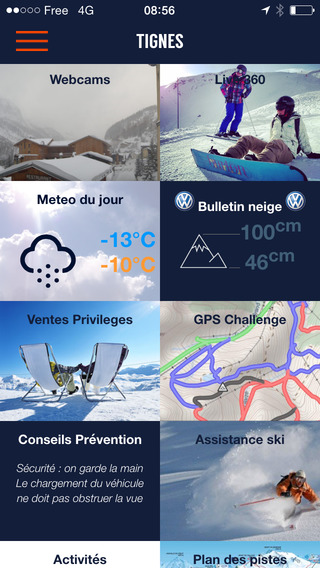 TIGNES par SKI 360 bons plans ski météo enneigement webcams GPS …