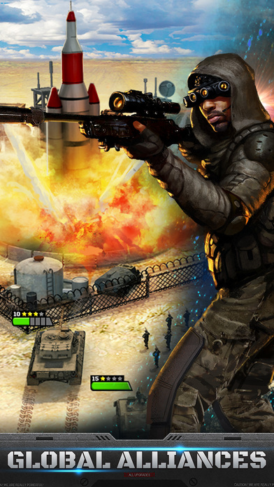 Screenshot of Mobile Strike App