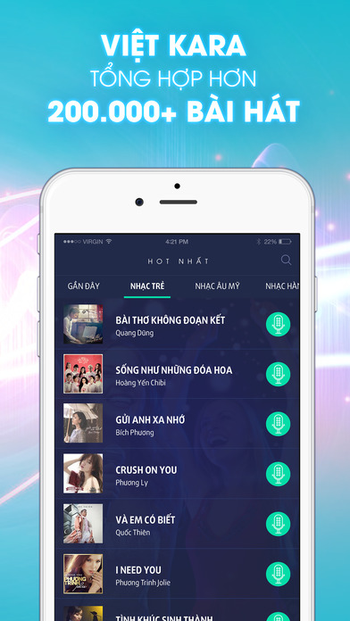 Karaoke 360 - Hát Karaoke miễn phí Apps free for iPhone/iPad screenshot
