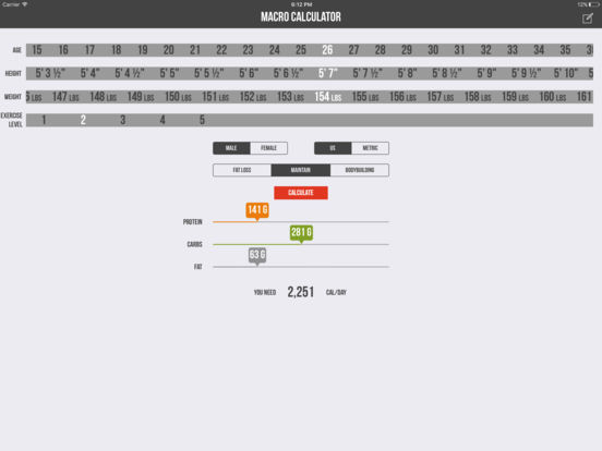 Macro Calculator - Mifflin-St Jeor Formula Скриншоты10