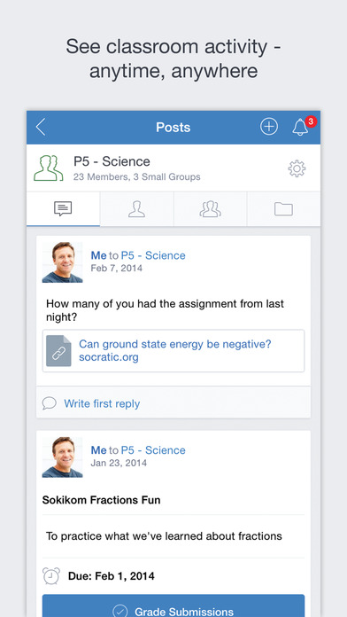 Edmodo iPhone Screenshot 1