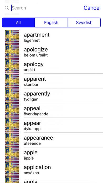 Swedish Dictionary GoldEdition screenshot 4
