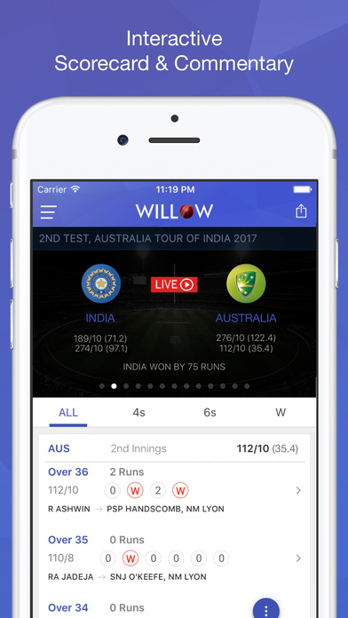Willow Tv Watch Live Cricket Amp Highlights App Download
