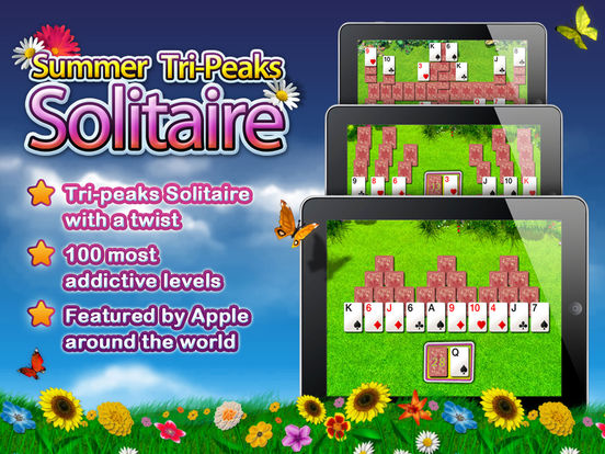 Summer Solitaire for iPad iPad Screenshot 1