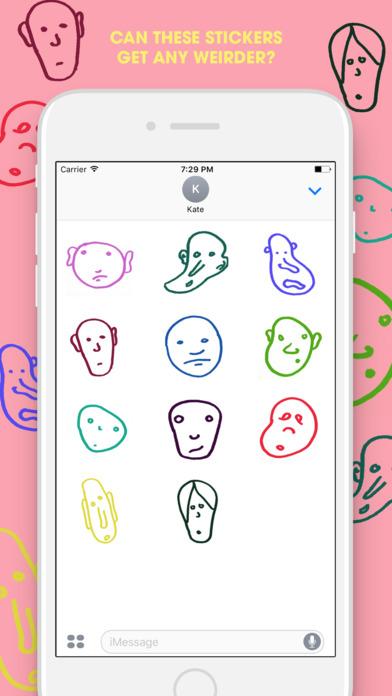 Weird Face Stickers iPhone Screenshot 2