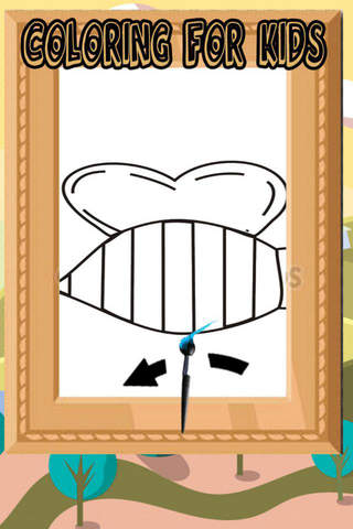 Tap Bee Paint Game For Toddle screenshot 1