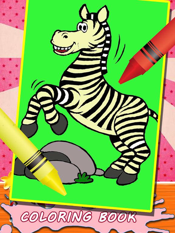 App Shopper: Kids Coloring Book For Zebra Animal Game ...