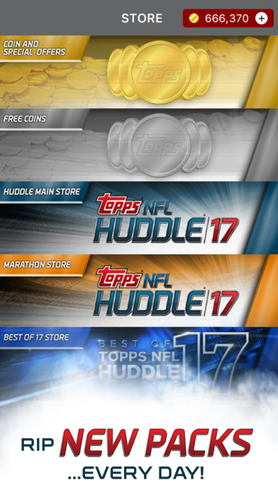 NFL HUDDLE: Football Card Trader app image