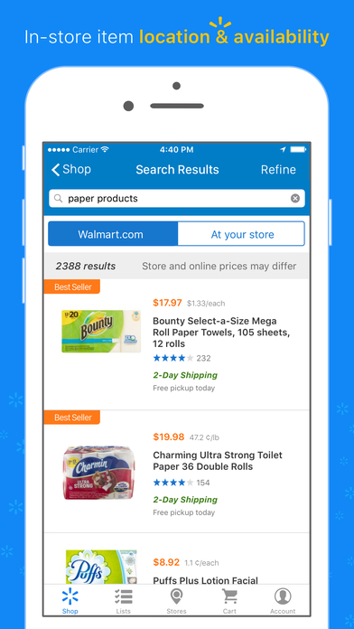 Screenshots for Walmart App: Shopping, Savings Catcher, & More