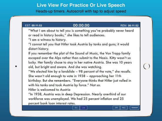 Public Speaking Teleprompter Presenter Audio/Video Screenshots