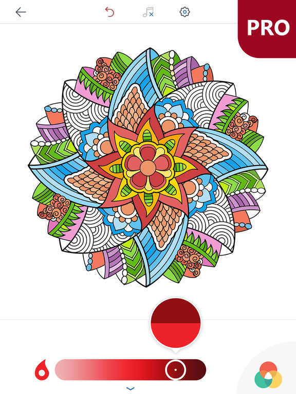 Coloring Pages Ipad Pro : Magic mandalas pro coloring book for adults by peaksel doo
